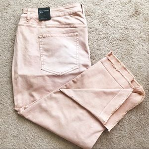 Lane Bryant Blush Pink Girlfriend Crop Jeans 22